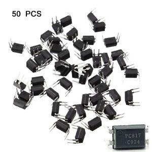 50pcs-PC817-EL817C-LTV817-PC817-1-80V-20mA-OPTOCOUPLER-Phototransistor-DIP-4