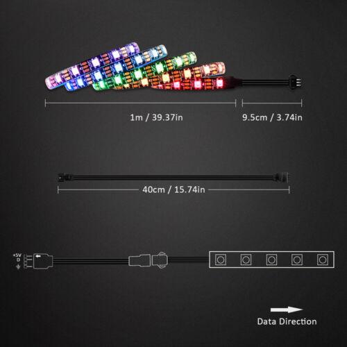 LED Strip 3pin RGB Addressable WS2812B PC Motherboard ASUS Aura SYNC MSI Mystic