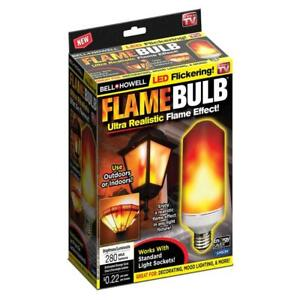 Bell + Howell Flickering Flame LED Bulb As Seen on TV! Indoor & Outdoor Use, NEW
