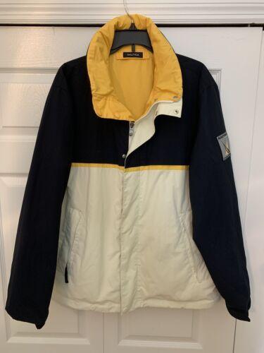Nautica NX1000 Jacket Mens Size Large Navy-White /