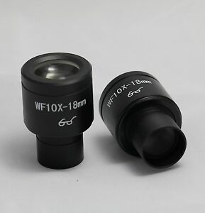 PAIR-OF-WIDEFIELD-WF10X-EYEPIECES-FOR-MICROSCOPE-23-2mm