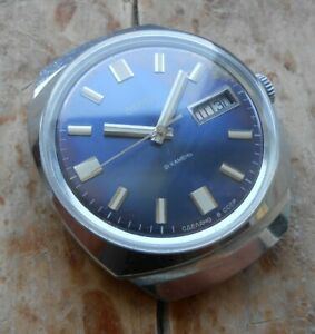 Rare vintage soviet automatic watch Vostok cal. 2427 day date, USSR, 1970s
