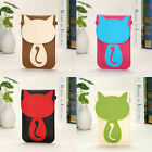 Women Mini Purse Cat Coin Cell Phone Case Mobile Shoulder Crossbody Bag Fashion
