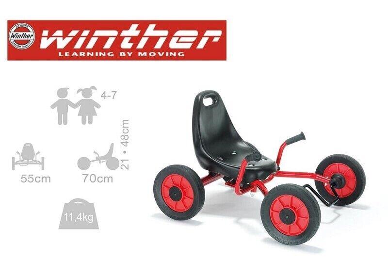 Unisex børnecykel, firhjulet, Winther