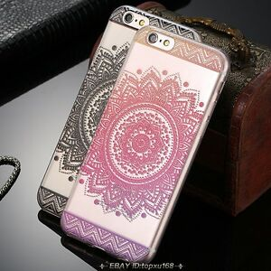 Mandala-Flower-Paisley-Pattern-Phone-Case-Ultra-Thin-Clear-Soft-Silicone-Cover
