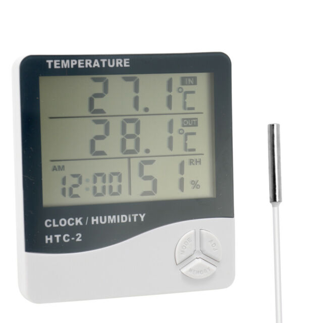 LCD Thermometer Hygrometer Humidity Humidity Meter Time Calendar Alarm
