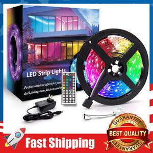 16.4ft LED Strip Lights RGB 5050 SMD Tape Lights Color Changing Remote Control