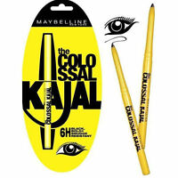 9 Pack Maybelline Colossal Water& Smudge Resistant Black Kajal Eyeliner 0.35 Gm
