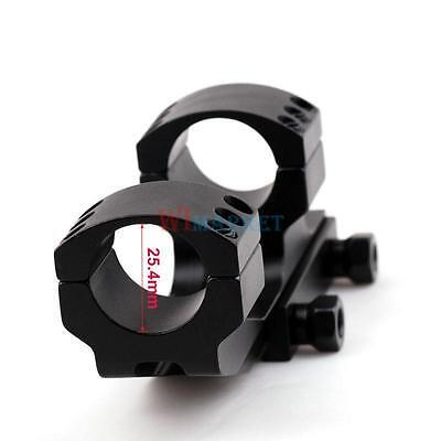 "Black Heavy Duty Weaver Style 1""inch Cantilever Scope Rings Mount Picatinny rail"