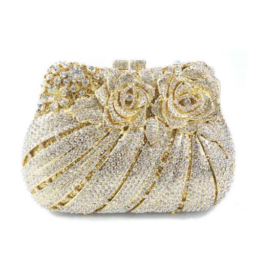 Pochette Rabat Corée Main Diamant Cristal Femme À Soirée Sac Mariage Strass 80wT8