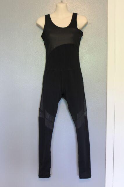 f54899510c8 Sweaty Betty Black Makarasana Unitard Jumpsuit XS
