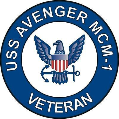 "Decal USS Avenger MCM-1 Veteran 5.5/"" Sticker"