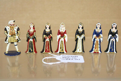 Accurato Richard Courtenay Storico Serie King Henry Viii & 6 Wives Set Nn