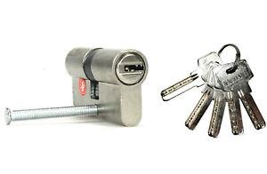 Cilindro-Europeo-A-Infilare-Sicurezza-60mm-Porta-Serratura-5-Chiavi-Lucchett-dfh