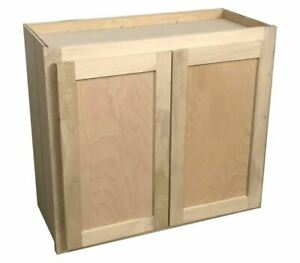 kitchen wall cabinet | unfinished poplar | shaker style