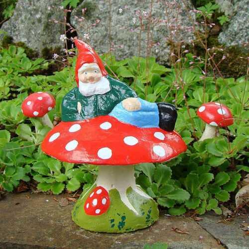 Garden Gnome ~ Clive ~ Handmade by Pixieland béton