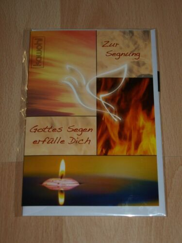 Faltkarte zur Segnung Grußkarte Glückwunschkarte