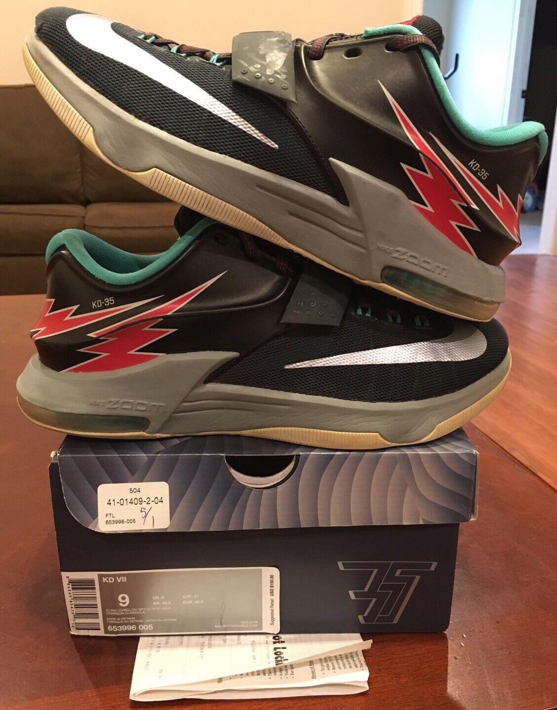 Nike kd 7 vii thunderbolt volo jordan yeezy durant 2 3 4 5 6 9 10 slancio lotto 8
