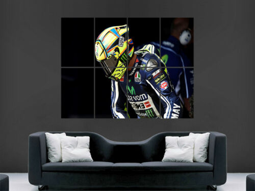 VALENTINO ROSSI POSTER SUPERBIKES WORLD CHAMPION HELMET  HUGE LARGE WALL ART