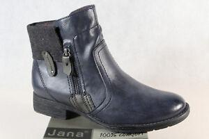 Winterstiefel Blau H Neu Boots Grau 25464 Stiefel Jana Schnürstiefel Zu Details Weite 2W9EHDI
