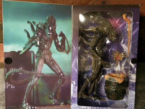 1986 Ultimate Brown Alien Warrior 7-inch Action Figure Mint in Box NECA Aliens