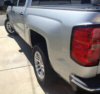 Chevy Silverado 2014+ 1500 Splash Guard Set Plastic Gmc 30050 4x4 No Drilling 4p