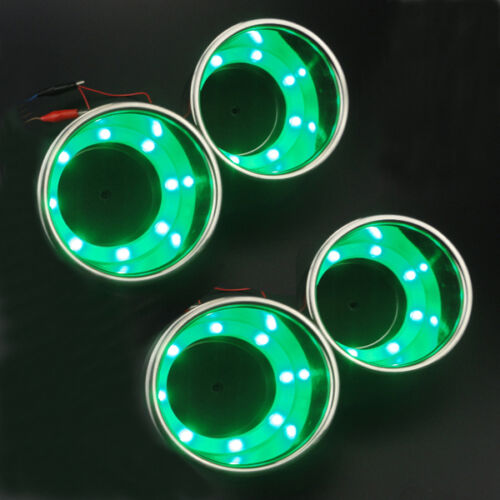 New Arrival 2PCS Green 8LED/'s 316 Stainless Steel Marine Boat Cup Drink Holder