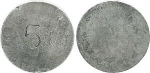 5 Pfennig Schrötlingsprobe O. J. (1917) Aluminium (42733)
