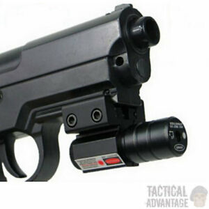Compact Red Dot Pistol Laser Sight Fits 20mm Or 11mm Rail Airsoft Airgun Gun Uk Ebay