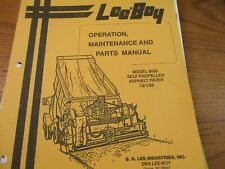 Leeboy Model 8000 Paver Operators Amp Maintenance Parts Manual