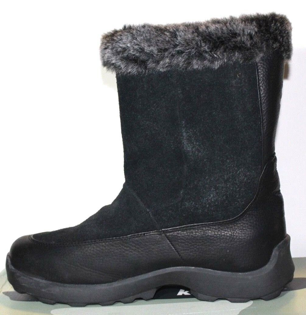 NIB Kamik Westside Black Leather Suede Winter Thinsulate-Insulation Boots 11 M