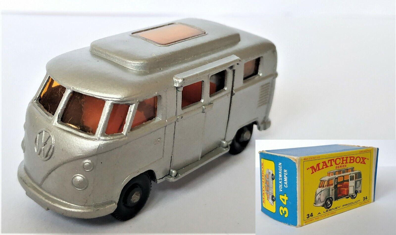Matchbox Lesney  No 34, Volkswagen Camper, 1960 S  bienvenue pour acheter