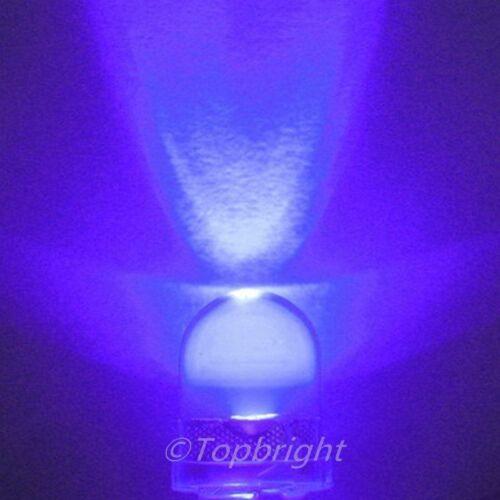 50 PCS 10mm 40° 0.5W UltraViolet UV LED 100mA 40000mcd