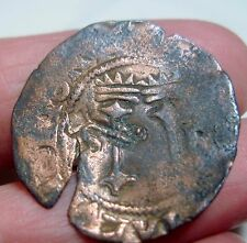 (1504-1516 ) DOMINICAN REPUBLIC 4 MARAVEDIS w/ KEY COUNTERMARK ---1st Coinage -