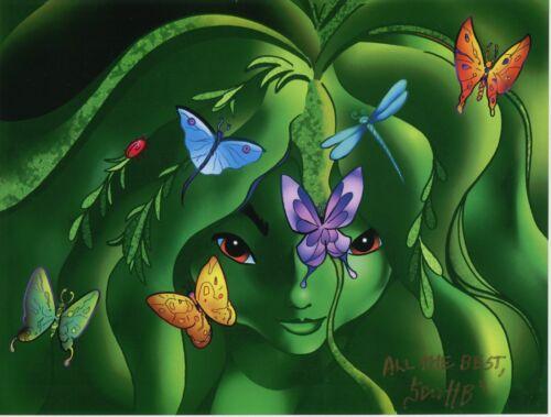 Fantasia Pixie Fairy Spirit Cool Fun Signed Tribute 8.5x11 Color Print With COA
