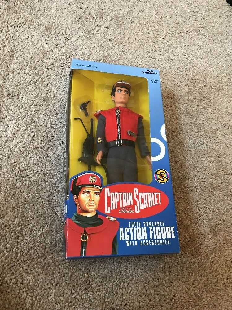 """Captain Scarlet Posable 12"""" Action Action Action Figure 1993 Vivid Imaginations c1cffc"""