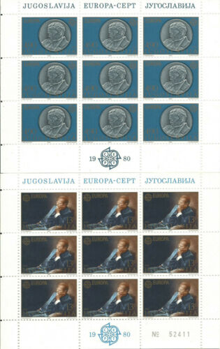 YUGOSLAVIA EUROPE cept 1980 Without Stamp hinges MNH Sheet block Souvenir