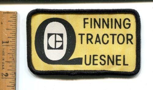 FINNING TRACTOR QUESNEL B.C ADVERTISING OILFIELD  JACKET PATCH LOGO VTG