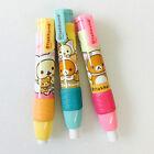1pcs Cute Rilakkuma Kitty Push Button Pencil Shaped Eraser School Supplies San-x