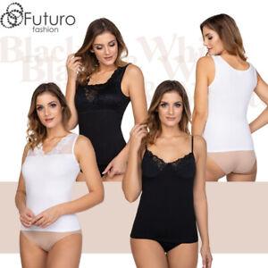 Women's Basic Classic Lace Tank Top Comfortable Elegant Underwear Blouse SS8