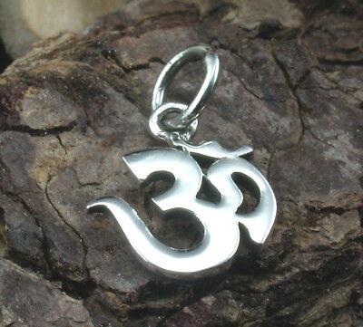 OM Anhänger 925 Sterling Silber Mantra Esoterik Buddhismus mit Band