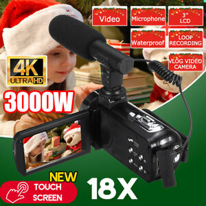 Video-Digital-Camera-Camcorder-Vlogging-Full-HD-1080P-18X-Touch-YouTube-w-Remote
