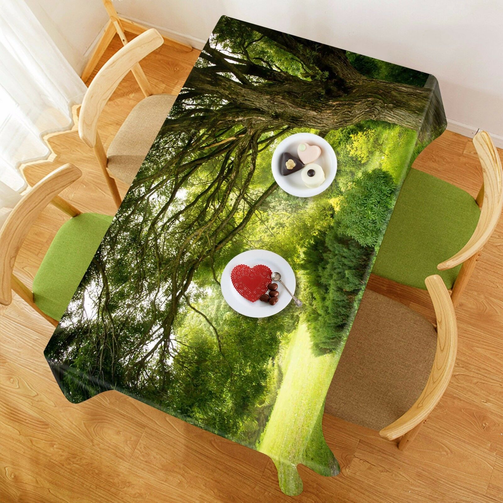 3D Lush Tree 403 Tablecloth Table Cover Cloth Birthday Party Event AJ WALLPAPER