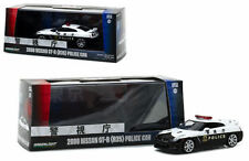 GREENLIGHT 51068 2008 NISSAN SKYLINE GT-R R35 JAPAN POLICE CAR 1/43 BLACK WHITE