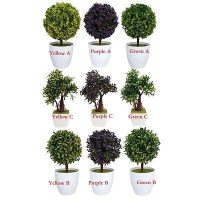 MARTIFICIAL CEDAR BONSAI TREE TOPIARY IN OUTDOOR PLANT HOME GARDEN DECORATION