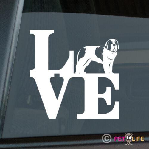 Love Saint Bernard Sticker Die Cut Vinyl park st st