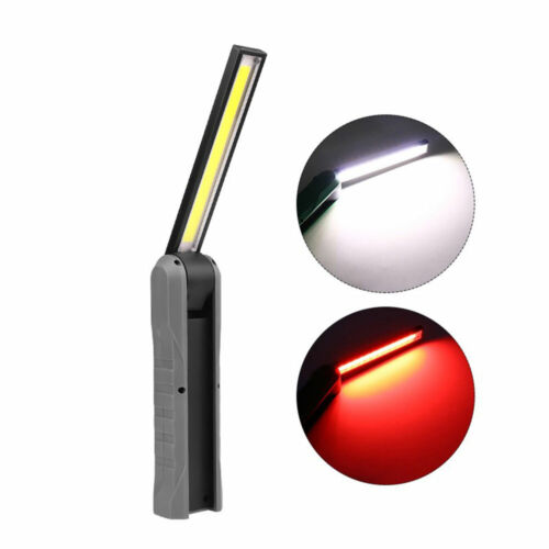 Portable 3W LED+5W COB Work Light Shockproof Flashlight Magnet Foldable Torch