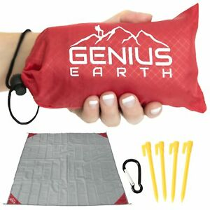 Image Is Loading Genius Earth Pocket Blanket Water Amp Sand Proof