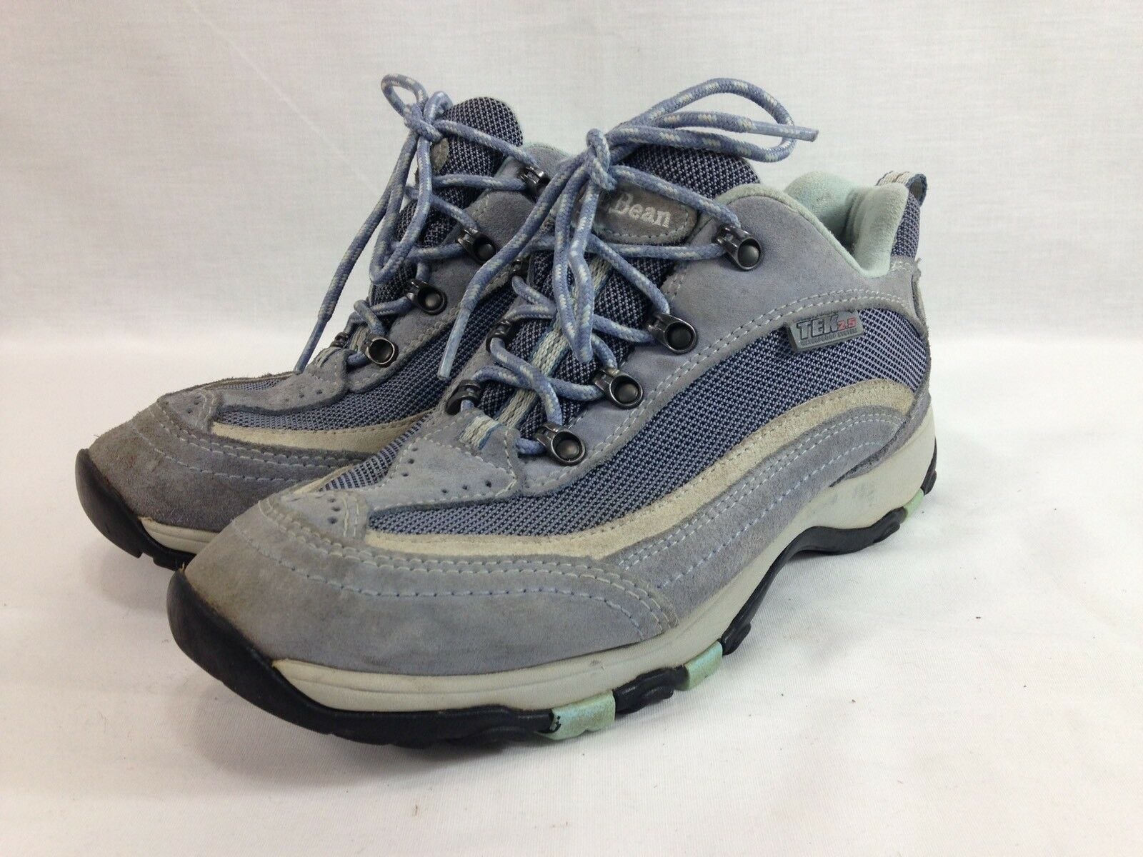 LL Bean TEK 2.5 Hiking Sneakers Boots Trail shoes Womens 7.5 M bluee Primaloft
