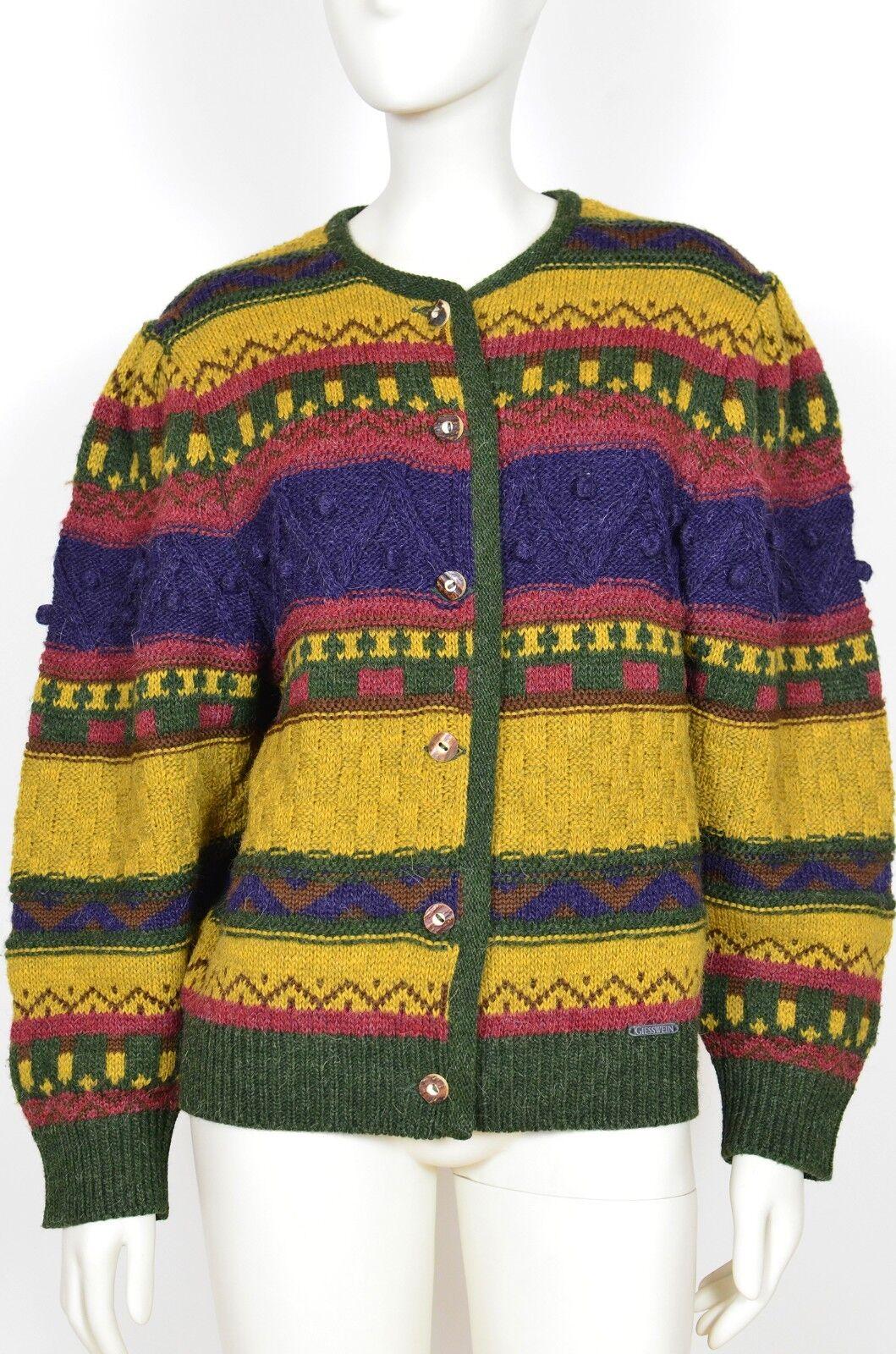 GIESSWEIN Austrian Trachten Knit Knitted Sweater Cardigan US 12